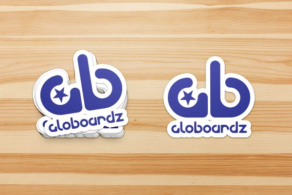 Globoardz logo stickers design